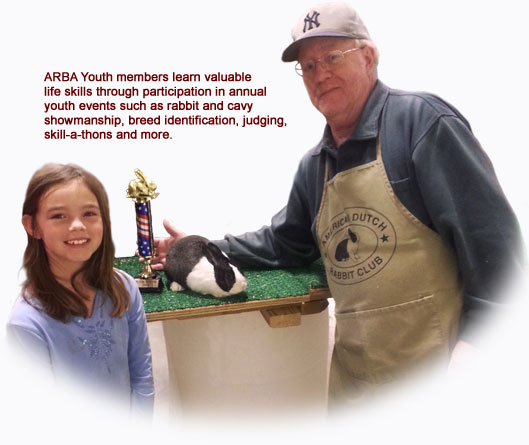 ARBA Youth members learn valuable life skills through participation in annual youth events such as rabbit and cavy showmanship, breed identification, judging, skill-a-thons and more.